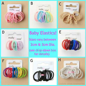 Small Baby Size Mini Hair Elastics Bobbles Bands Baby Hair Bands Tiny Hair Bands