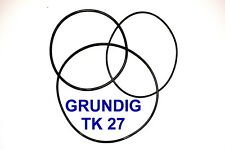 SET BELTS GRUNDIG TK27 REEL TO REEL EXTRA STRONG NEW FACTORY FRESH TK 27