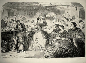 Fall Games - The Apple Bee ~ Original Winslow Homer ~ 1859 Antique Print