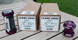 Complete Chris King bike package. R45 ceramic. Threadfit24 BB. 1.125 HS. purple