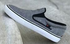 Mens DC Shoe Company USA B&W Small Chevron Slip On Sneakers Size 10