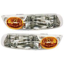 Headlight Set For 2000-2002 Saturn SL2 SL1 Driver & Passenger Side w/ bulb