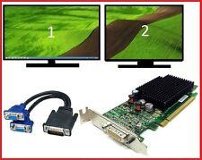 Dell Dimension Low Profile 960 980 990 3010 3020 7010 9010 Dual VGA Video Card