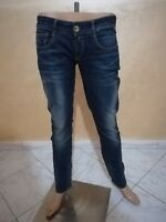 JEANS REPLAY DONNA TAGLIA SIZE 29 PANTALONE PANTS WOMAN COTONE ORIGINALE P 3163