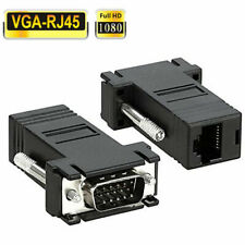 2x VGA Male to Network Adaptor Extend Video over Network Cat5e Ethernet RJ45 VGA