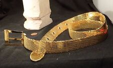 Vintage DISCO BELT Gold Metal Mesh Sparkle Dance 1970 EYE POPPING SHINY Clubwear