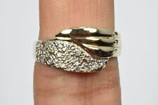 Women's 10k Yellow Gold .23 ct G/SI2 Diamond Cocktail Ring Not Enhanced Sizable