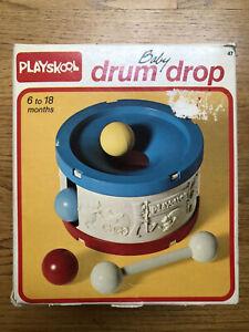 Vintage Playskool Toy Drum Baby Drum Drop With Box 6 to 18 Months