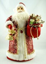 Red White Santa Claus Doll Candy Storage Box Collect Gift Xmas Decor Bell Hot