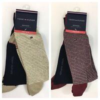 NWT Tommy Hilfiger Men's Premium Dress Socks Striped 2-Pack Shoe Size 7-12 Work