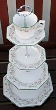 Johnson Brothers Eternal Beau 4 Tier Cake Stand Cup & Saucer Top Tier