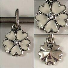 PANDORA WHITE PRIMROSE FLOWER PENDANT CHARM REF 390365EN12 S925 ALE