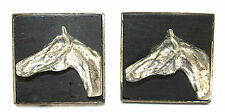 Vtg 1940s 50s Modernist FENWICK & SAILORS F&S Sterling Silver HORSE Cufflinks