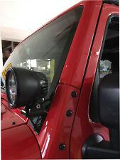 Halter f.Scheinwerfer Edelstahl schwarz NSR für Jeep Wrangler JK 07- für 2 LED