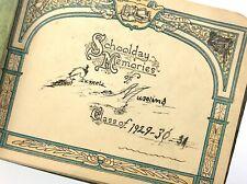 School Day Memories Class 1929-1930 Signature Yearbook Booklet R136