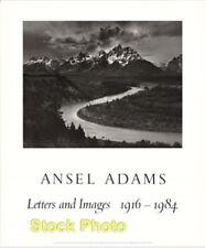"Vintage Ansel Adams Tetons & Snake River Letters & Images Art Print 31"" x 25.5"""