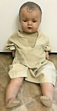 "Vintage Toy Child Eye Lids Open & Close Human Baby Doll 23"" Creepy Hard_8s_Magic"