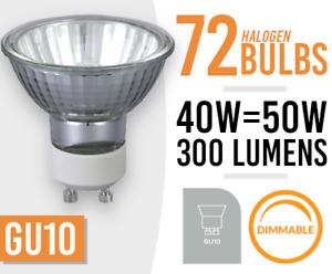 72x Dimmable GU10 40W/50W 240V Reflector Down Lighter Halogen Lamp Light Bulbs