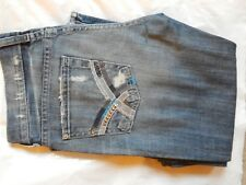 VINTAGE WOMENS 7 FOR ALL MANKIND BOOTCUT STRETCH DESIGNER JEANS 26W X 32L