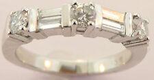 Band Ring .80 Carat Size 7 Ladies 14K White Gold Diamond Wedding