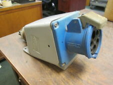 Hubbell Receptacle w/ Body 5100R9W 100A 120/208V 3Ph *Broken Cover* Used