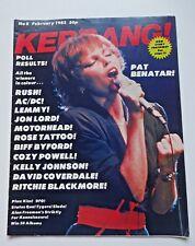 KERRANG! No. 8 (ISSUE 8) MAGAZINE SEPTEMBER 1982 - PAT BENATAR - SLADE - KISS
