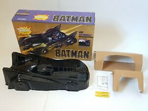 Vintage Batman Toybiz Box And Cocoon For Movie Toy 1989 Batmobile + Inserts