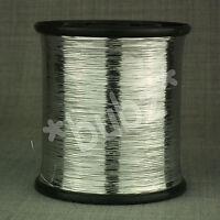 SILVER UNSUPPORTED FLAT LUREX METALLIC GLITTER YARN 200g SPOOL WEAVING SPINNING