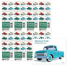 USPS New Pickup Trucks Press Sheet with die cuts