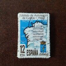 Sello España: Estatuto Autonomía Galicia (Año 1981/12 pesetas)
