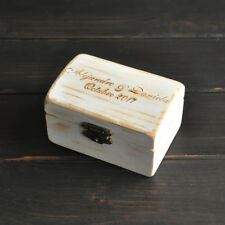 Custom Rustic Wedding Ring Bearer Box Engrave Wood Wedding Ring Box Personalized