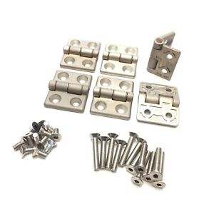 Lot of 6 Bosch Rexroth 524020 524021 Aluminum Extrusion Hinges, 30mm Profile