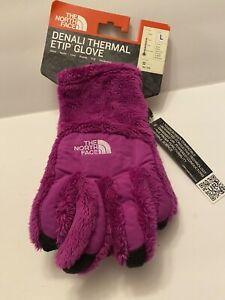 The North Face ETIP Girl's Denali Thermal Gloves - Youth-large Magic Magenta NWT