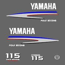 kit stickers YAMAHA 115 cv serie 2 - autocollant capot moteur hors-bord decals