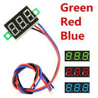 0.36 inch 3 Wires DC0-30V Green Blue Red LED Voltage Meter 3Digital Voltmeter