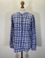 New With Tags Sprit Ladies Blue Checked Shirt Size Uk 12