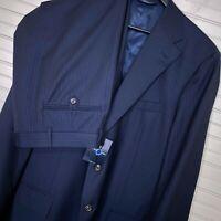 Polo Ralph Lauren Blue Label Wool Pinstripe 2 Pc. Suit Men's Size 44L 36w