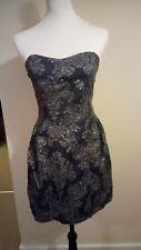 GORGEOUS dark grey/gold Dress Size 8/M - M Butterfly
