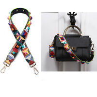 Free Shipping Women Colorful Flower Rivet Handbag Shoulder Strap Bag Accessories