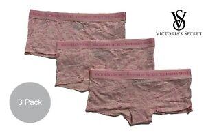 Victoria's Secret Women's Pink Shortie Panties 3 Pack Cotton Brand New All Sizes
