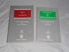 The Common Law Library Chitty on Contracts Charlesworth Percy Negligence books