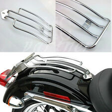 Chrome Luggage Rack Stock Solo Seat For Harley XL Sportster 883 1200 1985-2003