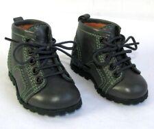 FREE LANCE Chaussures coffret de luxe naissance lacets cuir gris NEUF BOITE