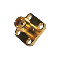 10pcs SMA female 4 hole panel mount jack with solder cup straight RF connector
