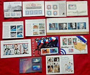 Combo: Special Lot of 12 Different Mini Souvenir New Sheets US USA Postage Stamp