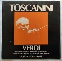 VERDI PRELUDI TRAVIATA LP ARTURO TOSCANINI 33 GIRI VINYL ITALY 1980 NM/NM