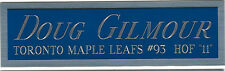 DOUG GILMOUR NAMEPLATE AUTOGRAPHED SIGNED HOCKEY STICK-JERSEY-PUCK-PHOTO CASE