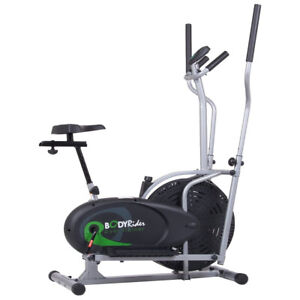 Body Flex Sports Body Rider Stationary 2 In 1 Elliptical & Bike Trainer Machine
