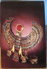 Postcard Egypt FALCON PECTORAL Egyptian Treasures King Tut Tutankhamun Cairo