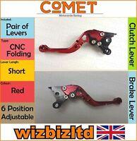Ducati Gt 1000 2006-2010 [Pliable Court Rouge ] [ Comet Réglable Course Levier]